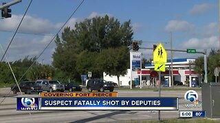 Suspect fatally shot by deputies overnight near Fort Pierce