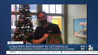 """Atwater's in Catonsville says """"We're Open Baltimore!"""""""