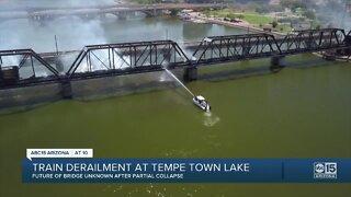 Train derailment at Tempe Town Lake