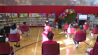 Scripps Howard Foundation and News 5 donate 500,000th book to Wade Park Elementary