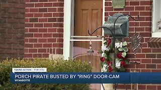 Porch pirate busted by Ring door-cam