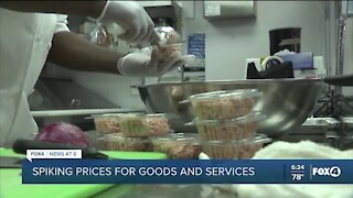 Spiking prices hurting small business