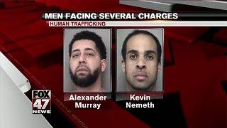 Two Lansing men face human trafficking charges