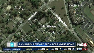 8 Kids & elderly woman removed from Fort Myers home