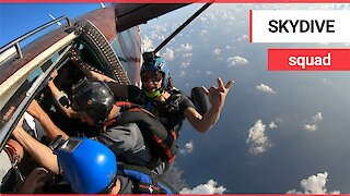 Fearless skydiving daredevils put your dance floor moves to shame!