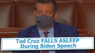 Ted Cruz FALLS ASLEEP During Biden Speech