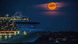Fortryllende supermåne på Rhode Island