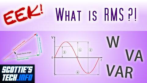 EEK! #6 - AC Power, RMS, & VA vs W