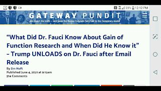 Trump Statement About Fauci Emails...