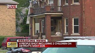 4 shot, including 2 children, on Detroit's west side