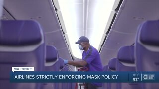 Airlines strictly enforcing mask policy