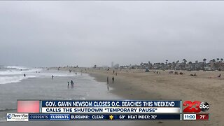 Gov. Gavin Newsom closes O.C. beaches this weekend