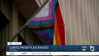LGBTQ Pride flag raised at San Diego's City Hall