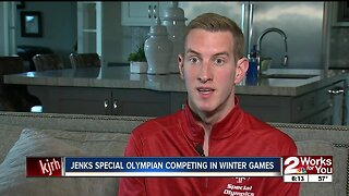 Jenks Special Olympian competing in Winter Games