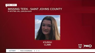 Missing teen Saint Johns County