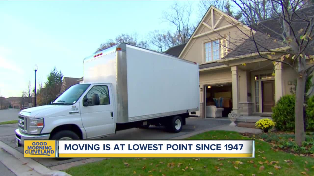 Fewer people are moving from their homes
