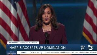 Harris accepts VP nomination, Obama criticizes Trump at DNC