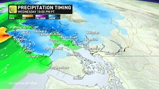 Incoming Pacific low to soak B.C. with heavy coastal rain, alpine snow, and strong winds