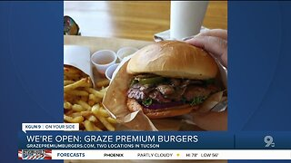 Graze Premium Burgers open for carryout, delivery