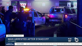 Man arrested after standoff in City Heights