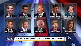 First of two Democratic debates tonight