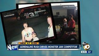 Adrenaline rush drives Monster Jam competitor