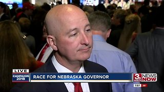 Gov. Ricketts interviewed at watch party