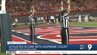 College athletes score---in the Supreme Court
