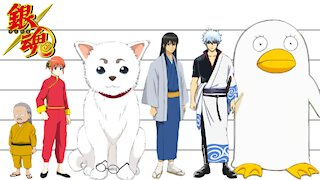 Gintama | Characters Height Comparison