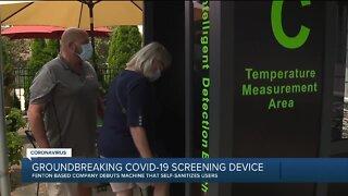 Michigan company debuts new COVID-19 screening device