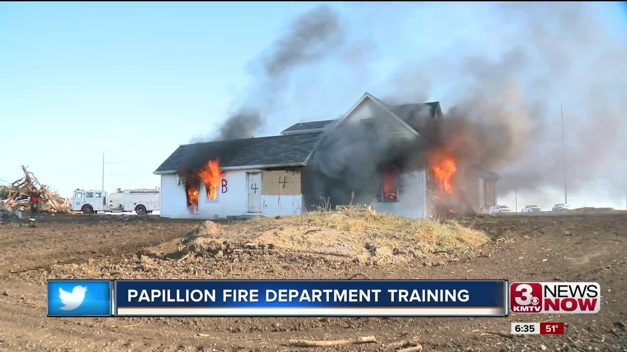 Papillion Fire Department training