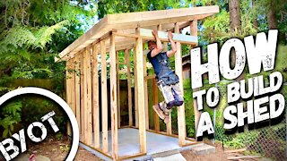BUILDING A LEAN TO SHED // START TO FINISH (Part 1 of 2)