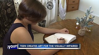 Local teen artist creates art series for visually impaired