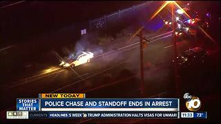 Driver arrested after chase, standoff on Harbor Drive