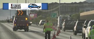 TRAFFIC ALERT: All lanes closed at 215 near S. Pecos Road