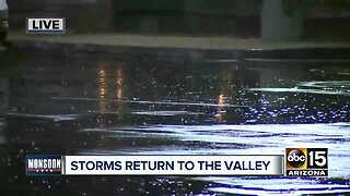 Storms pound the Valley Wednesday night