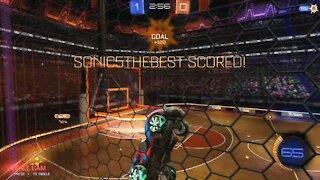 Dunking goals(rocket league)
