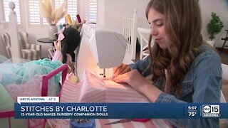 Valley child makes comfort dolls for kids having surgery