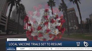 Vaccine trials set to resume locally