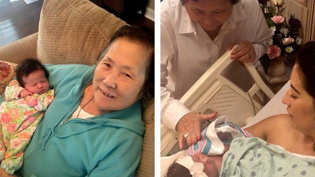 Bestemor møter barnebarn for første gang - om og om igjen