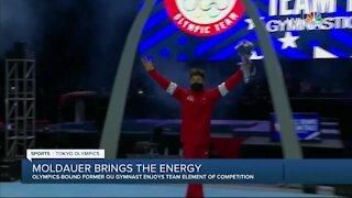 Yul Moldauer brings the energy