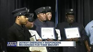Detroit emergency responders recognized for their bravery