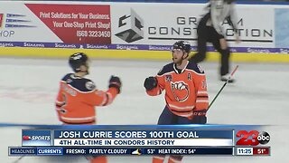 Curries scores 100th career goal in Condors loss
