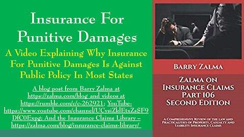 Insurance for Punitive Damages