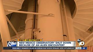 Observatory closed because of alien encounter?