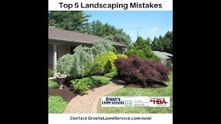 Top 5 Landscaping Mistakes Hagerstown MD Washington County Maryland