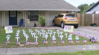 Local retired veteran honors fallen heroes in her front yard this Memorial Day