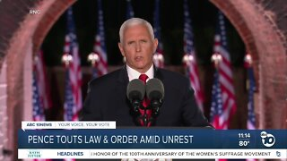 Pence touts law & order amid unrest