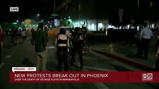 Downtown Phoenix protests escalate Friday night
