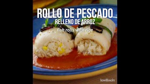 Rice Stuffed Fish Roll